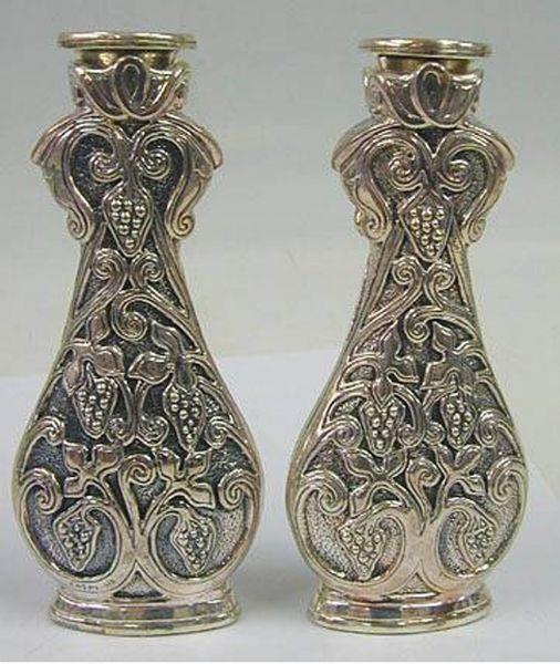 Sterling Silver Grape Candlesticks