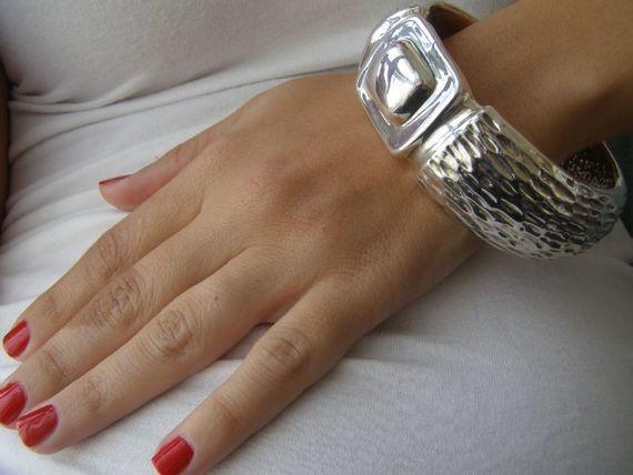 צמיד שעון ענק  כסף 925