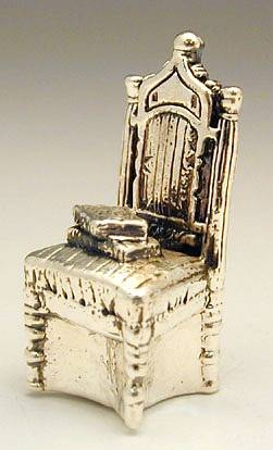 Sterling Silver Chair With Book