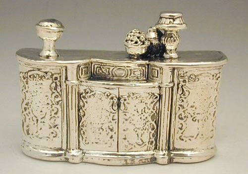 Sterling Silver Miniature Sideboard