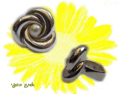 טבעת פרח מכסף טהור