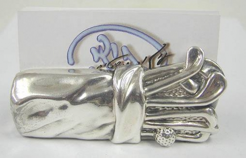 Sterling Silver Golf Business Card Holder