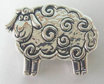 Sterling Silver Sheep Brooch