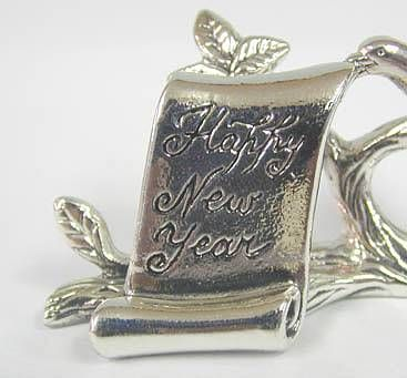 Sterling Silver Happy New Year Miniature