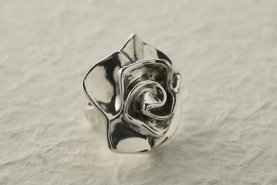 Silver Ring- Rose