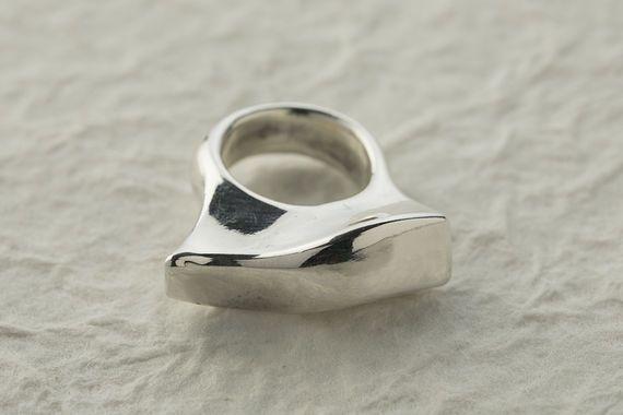 טבעת כסף חלקה