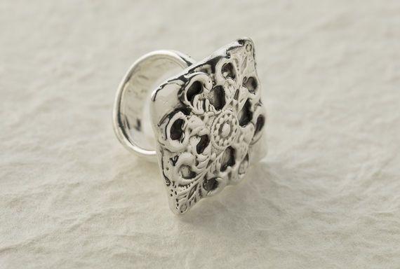 טבעת כסף מפורפרת