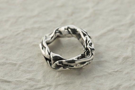 טבעת חבל מכסף