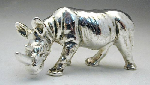 Silver Rhino / Rhinoceros Miniature