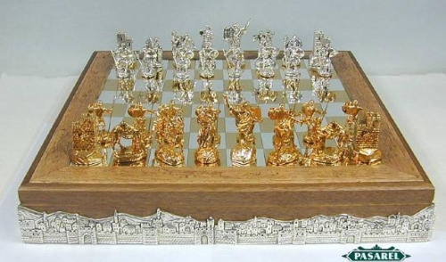 Large Sterling Silver Biblical Chess Set