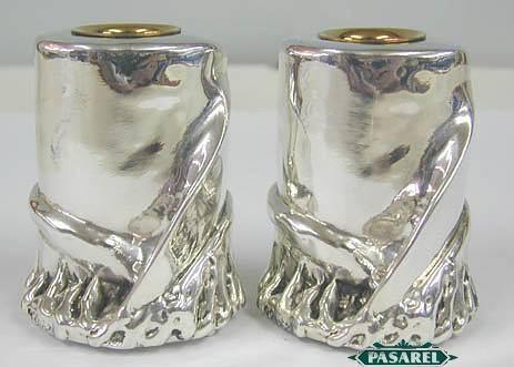 Sterling Silver Scroll Candlesticks