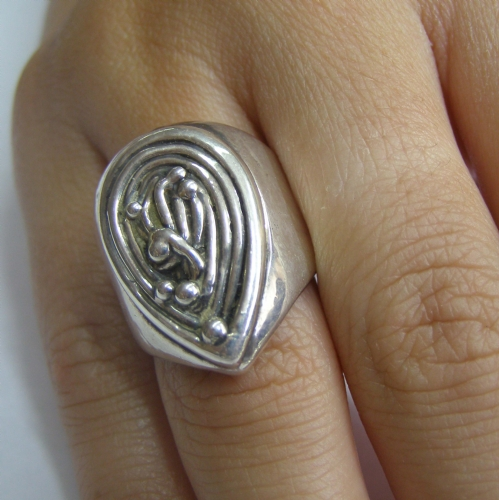 Sterling Silver Drop Rong