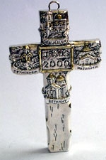 Huge cross with the 4 Holy Places- Jerusalem- Nazareth-BethLehem-Bethany