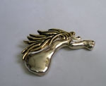Sterling Silver Riding Horse Brooch