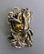 Sterling Silver Tiny Rose Brooch