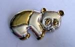 Sterling Silver Panda Brooch