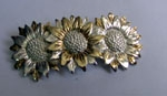 Sterling Silver Three Sunflower