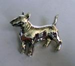 סיכת כלב בולטרייר מכסף טהור
