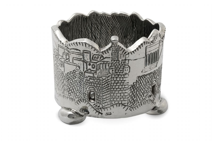 Sterling Silver Jerusalem Gate Wine Goblets