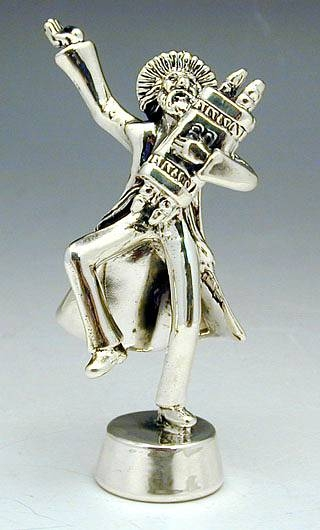 Sterling Silver Hassidic Jew Dancing Figurine