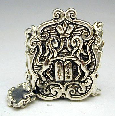 Sterling Silver Torah Shield Miniature