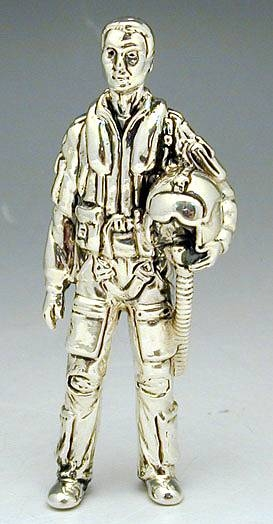 Sterling Silver Pilot Miniature