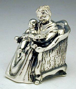 Sterling Silver  Mother & Child Miniature
