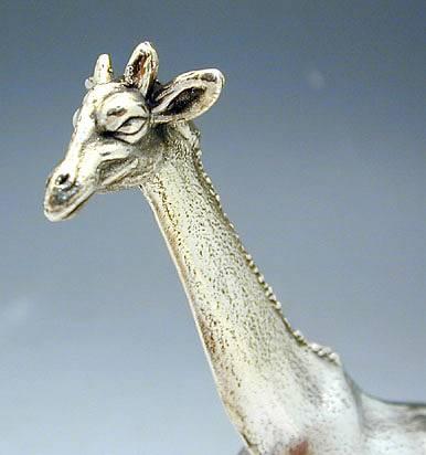 Sterling Silver Giraffe Miniature