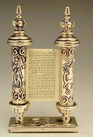 Sterling Silver Breshith Scroll Miniature