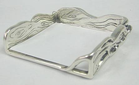 Sterling Silver Artisan Memo Note Pad Holder