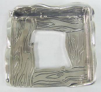 Sterling Silver Artisan Memo Note Pad Holder