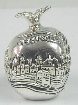 Sterling Silver Jerusalem Pomegranate
