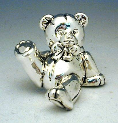 Sterling Silver Teddy Bear Miniature