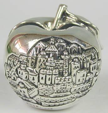 Sterling Silver Jerusalem Apple Card Holder