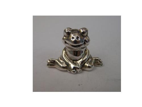Silver Mini Sitting Frog