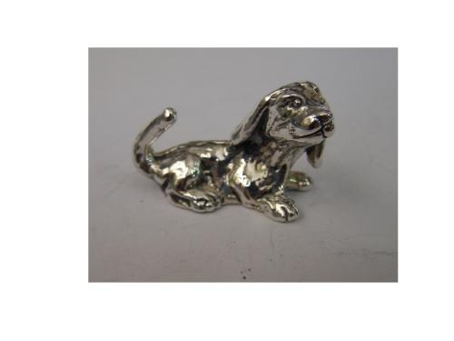 Silver Sitting Dog