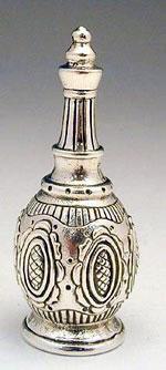 בקבוק יין חמניה מיניאטורה מכסף טהור