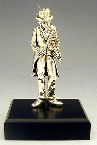 Sterling Silver Beggar Fiddler Figurine
