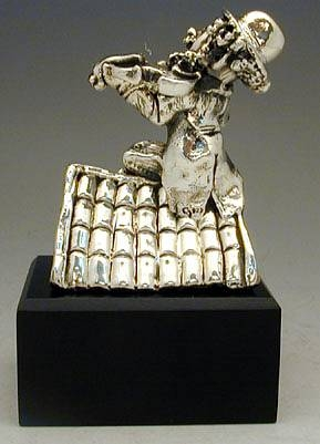 Sterling Silver Fildder on The Roof Figurine
