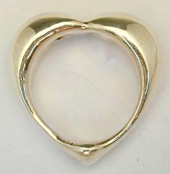 Sterling Silver 6 Heart Napkin Rings