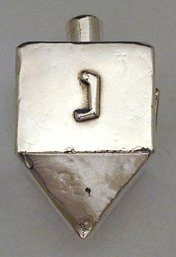 Big Smooth DrLarge Sterling Silver Hanukkah Dreidel,eydle