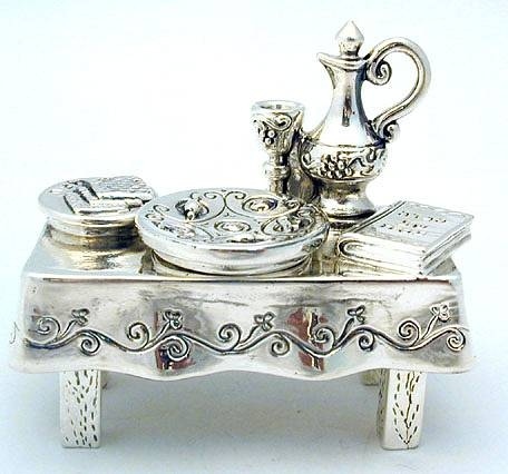 Sterling Silver Pesach Table