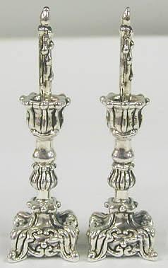 Sterling Silver miniature Shabbath candlesticks
