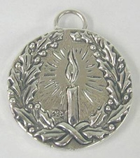 sterling silver Christmas pendant