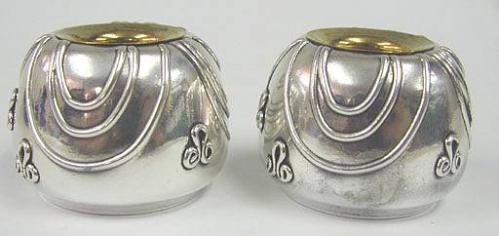 Sterling Silver Eye Candlesticks
