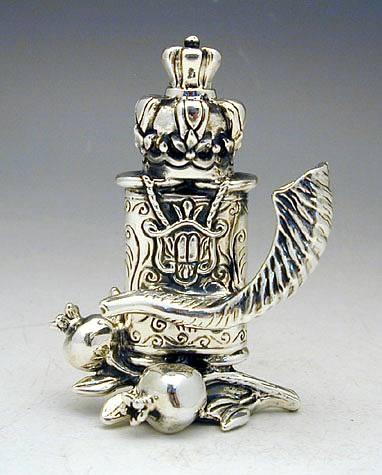 Sterling Silver Torah Scroll Miniature