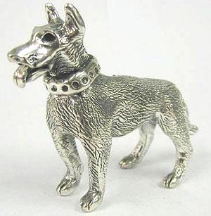 כלב רועה גרמני מכסף טהור