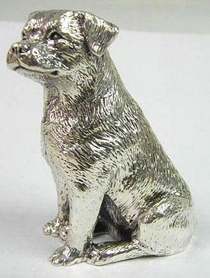 Sterling silver Labrador dog figurine
