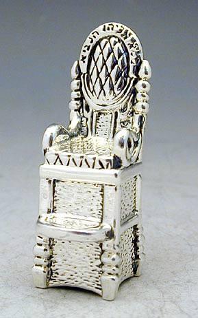 Sterling Silver Elijah Chair Miniature