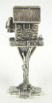 Sterling Silver Bird House